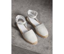 Espadrille-Sandalen aus genarbtem Leder