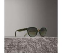 Cat-Eye-Sonnenbrille mit Karodetail
