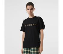 T-Shirt aus Baumwolle mit Logo in Karo-Optik