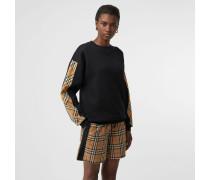 Baumwollsweatshirt mit Vintage Check-Details