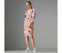 Ärmelloses Kleid mit Zierdetails