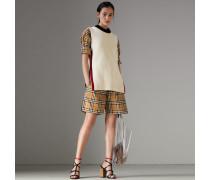 Shorts im Vintage Check-Design mit Tunnelzug