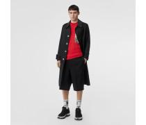 Elegante Shorts aus Wolle und Mohair mit Taschen