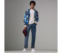 Gerade Jeans in Zweitonoptik
