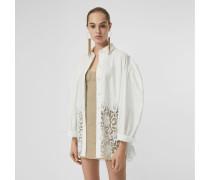 Oxford-Bluse im Oversize-Stil aus Baumwolle