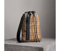 Mittelgroße Duffle-Tasche aus Vintage Check-Baumwolle