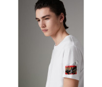 T-Shirt mit Ticketmotiv im Graffiti-Design