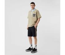 Chino-Shorts aus Baumwolltwill mit Streifendetail