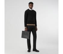 Pullover aus Merinowolle mit Streifendetails