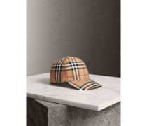 Basecap mit Vintage Check-Muster