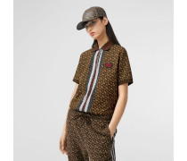 Oversize-Poloshirt aus Baumwolle