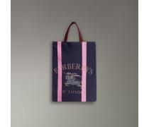 Mittelgroßer Shopper aus Jersey mit Vintage-Logo
