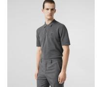 Poloshirt aus Baumwolle mit Monogrammmotiv