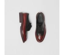 Derby-Schuhe aus Leder mit Brogue-Detail