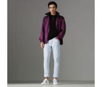 Gerade Jeans aus gebleichtem japanischem Denim