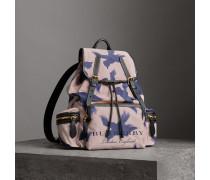The Large Rucksack aus Canvas und Leder