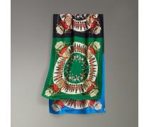 Extragroßer Schal mit Vintage-Aufdruck