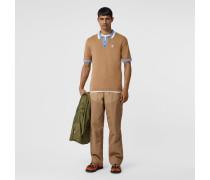 Poloshirt in Zweitonoptik mit Monogrammmotiv