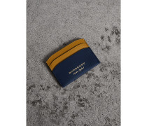 Kartenetui aus Trench-Leder in Zweitonoptik