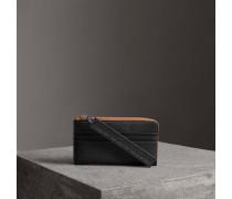 Reisebrieftasche aus genarbtem Leder