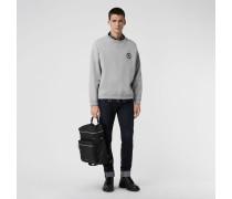 Jersey-Sweatshirt mit Logostickerei
