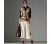Ärmellose Bluse aus Stretchbaumwolle