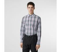 Baumwollhemd mit Vintage Check-Muster