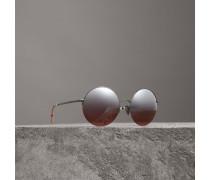 Sonnenbrille mit rundem Gestell und Spiegelgläsern