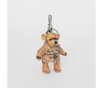 Thomas Teddybär-Anhänger mit Rehfellmuster-Mantel