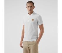 Poloshirt aus Baumwollpiqué mit Vintage-Logo