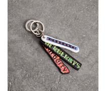 Schlüsselanhänger aus Leder mit Logo