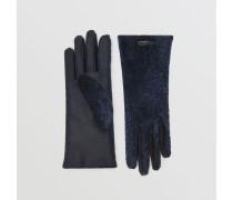 Handschuhe aus Lammfell und Leder