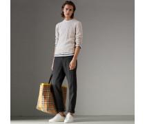 Pullover aus Baumwolle und Kaschmir mit Zopfmuster