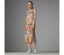 Ärmelloses Kleid mit handbemalten Pailletten