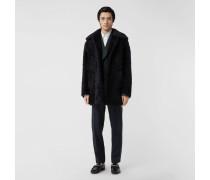 Mantel aus lockigem Lammfell