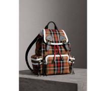 The Medium Rucksack aus Baumwolle mit Karomuster
