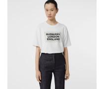 Oversize-T-Shirt aus Stretchbaumwolle mit Logo