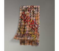 Schal aus Wolle und Seide im Vintage Check-Design