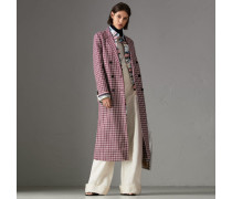 Körperbetonter Mantel aus doppelseitig gewebtem Baumwolltwill