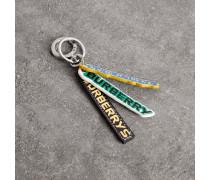 Schlüsselanhänger aus Leder mit -Logos