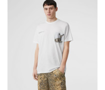 Oversize-T-Shirt aus Baumwolle mit Aufdruck