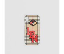 iPhone X/XS-Etui im Vintage Check-Design