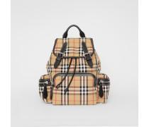 The Medium Rucksack aus Baumwollcanvas im Vintage Check-Design