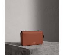 Reisebrieftasche aus Trench-Leder