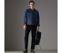 Jeansjacke in Zweitonoptik