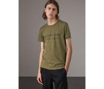 T-Shirt aus Baumwolljersey mit Devoré-Detail
