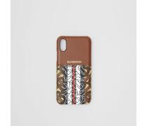 iPhone X/XS-Etui aus Leder und Eco-Canvas
