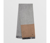 Kaschmirschal im Colour-Blocking-Design