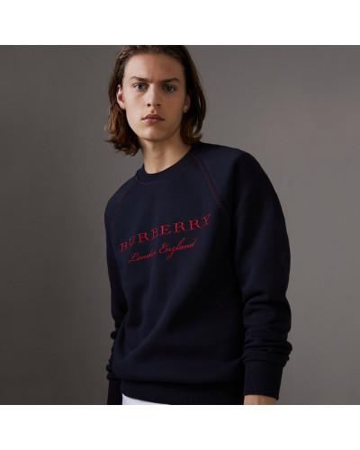 Jersey-Sweatshirt mit Stickerei