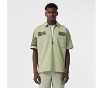 Kurzärmeliges Baumwollhemd im Military-Stil